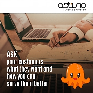 ask customers questions