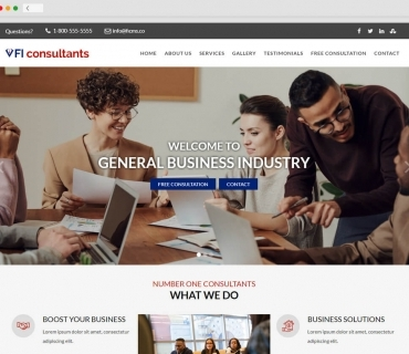 Business Consultant theme