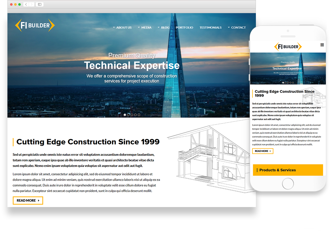 Optuno Builder Web Design