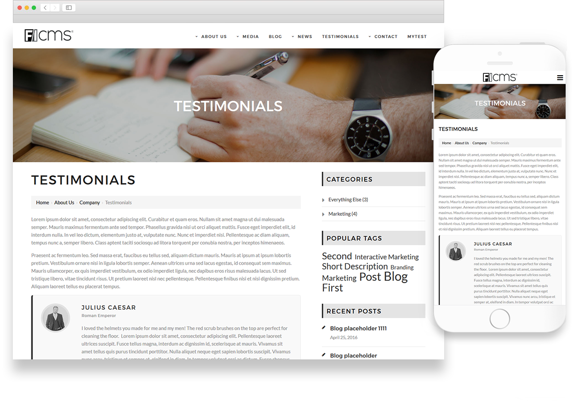 Optuno Business Website Design