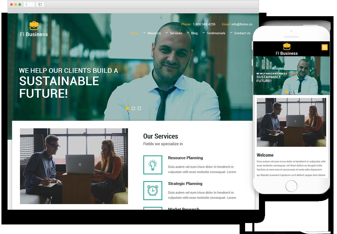 Optuno Business - The Closer Web Design