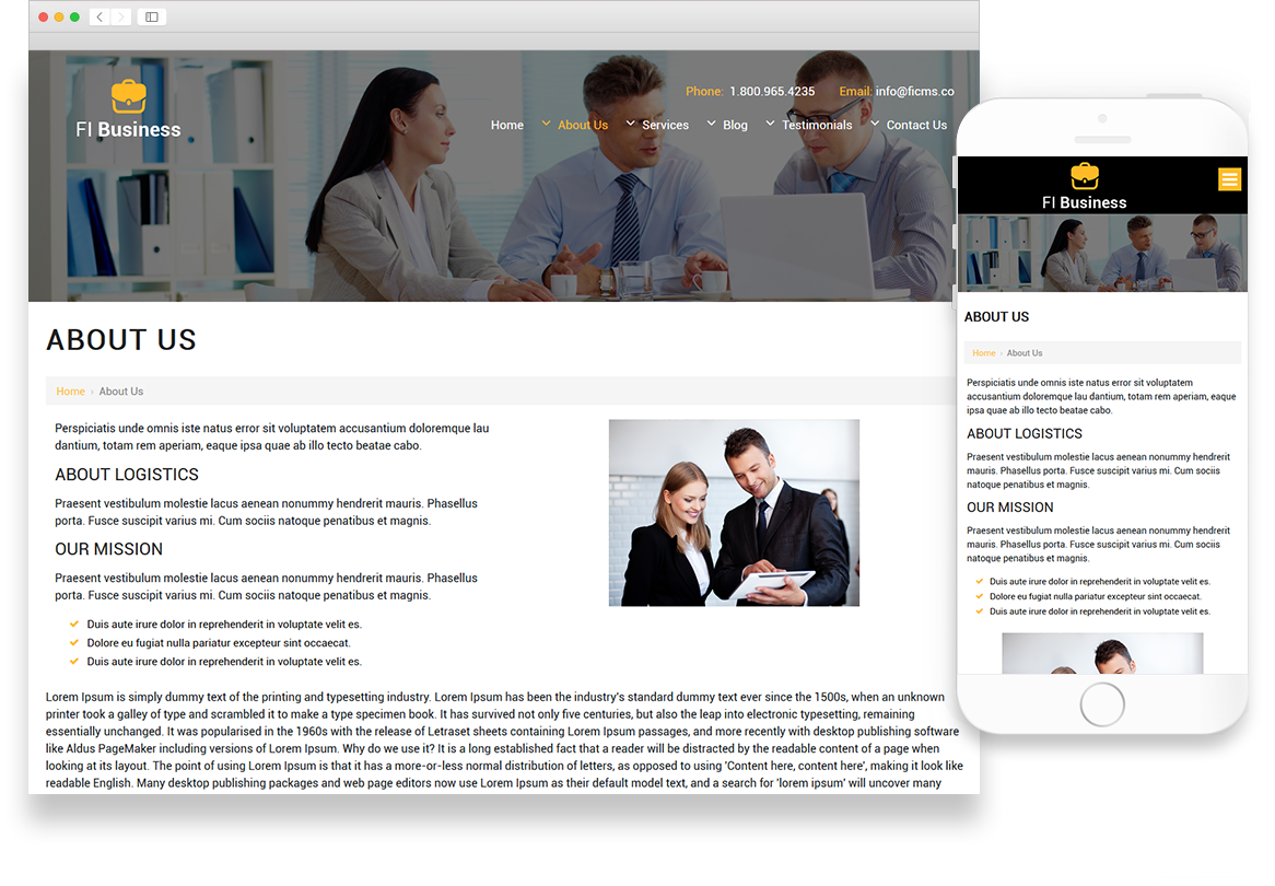 Optuno Business - The Closer Website Design