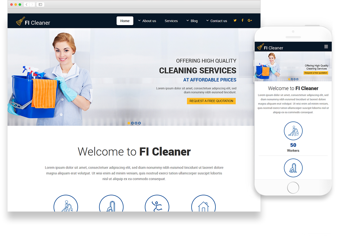 Optuno Cleaner Web Design