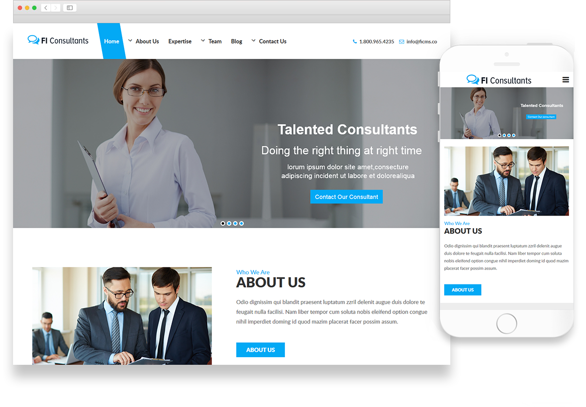 Optuno Consultants Web Design
