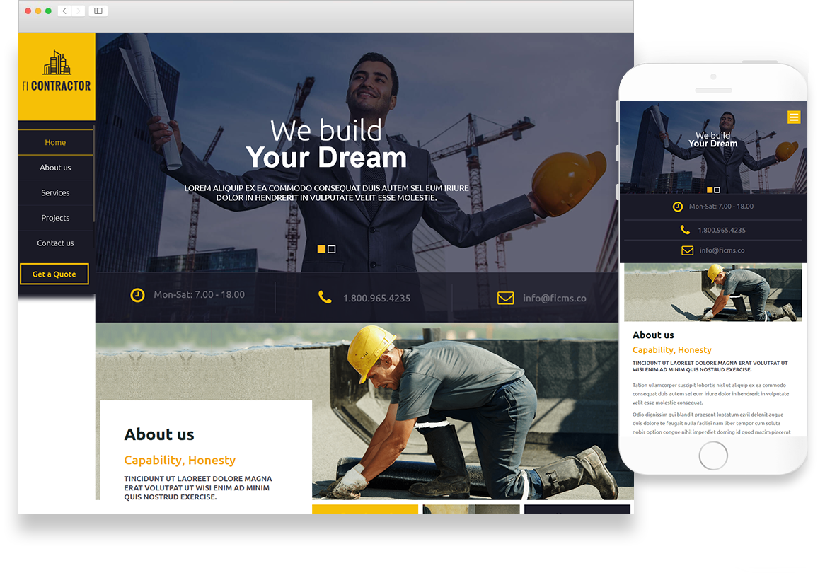 Optuno Contractor Web Design