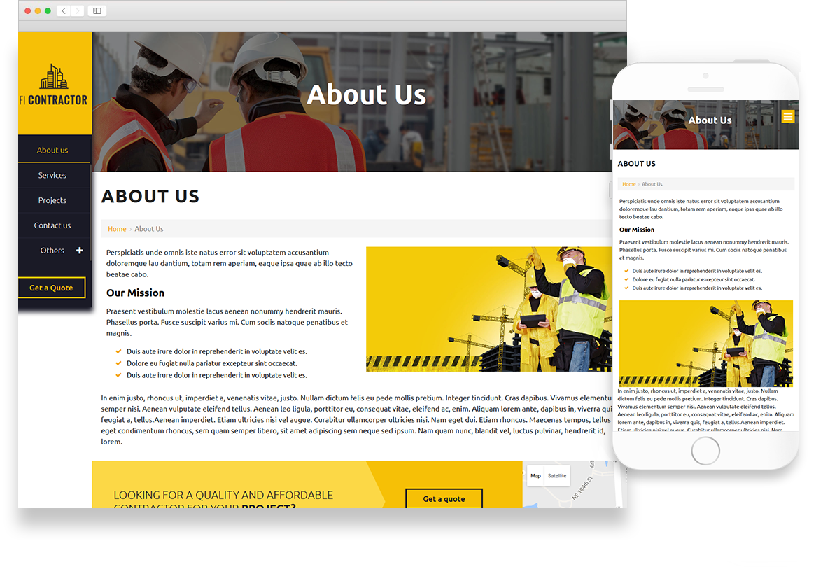 Optuno Contractor Website Design