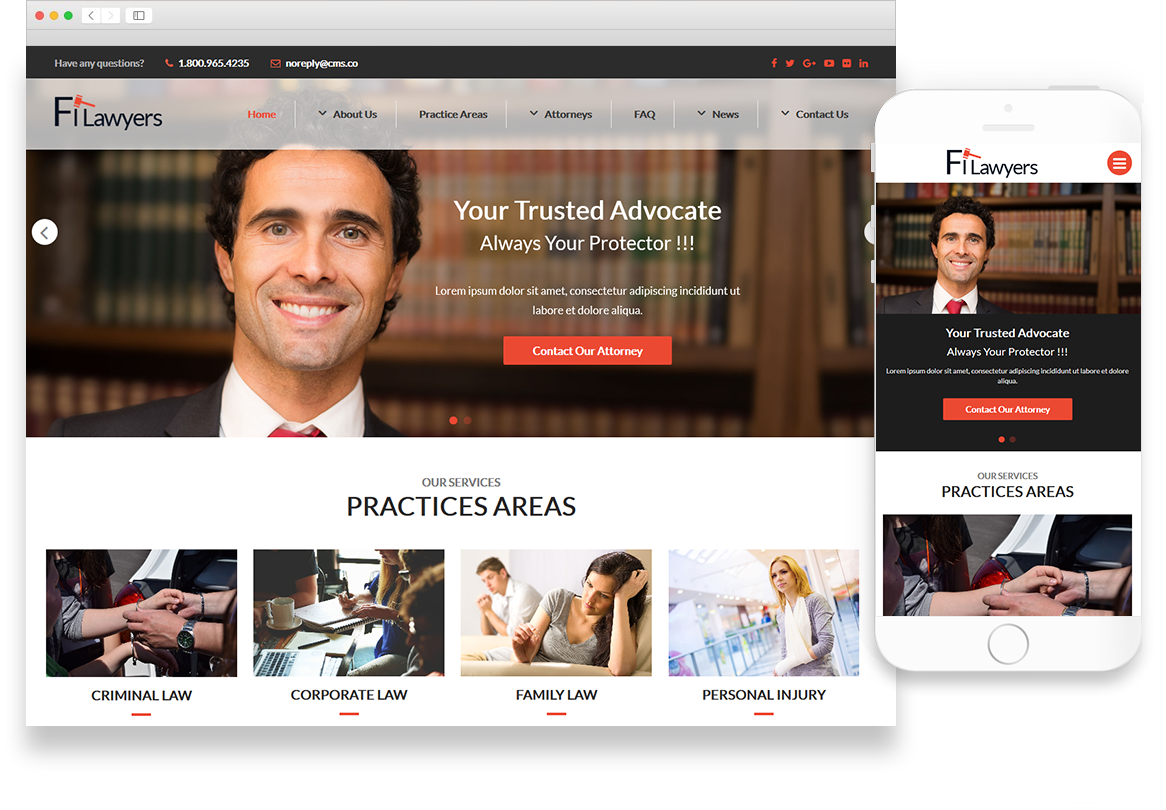 Optuno Lawyer Web Design