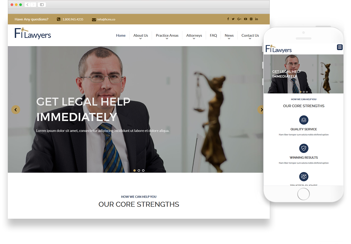 Optuno Attorney Web Design