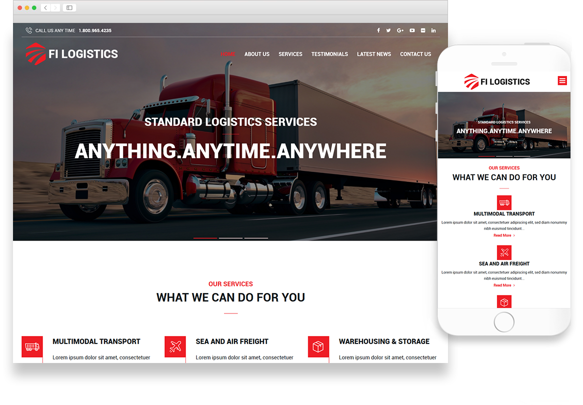 Optuno Logistics Web Design