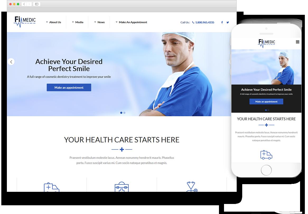 Optuno Medic Web Design
