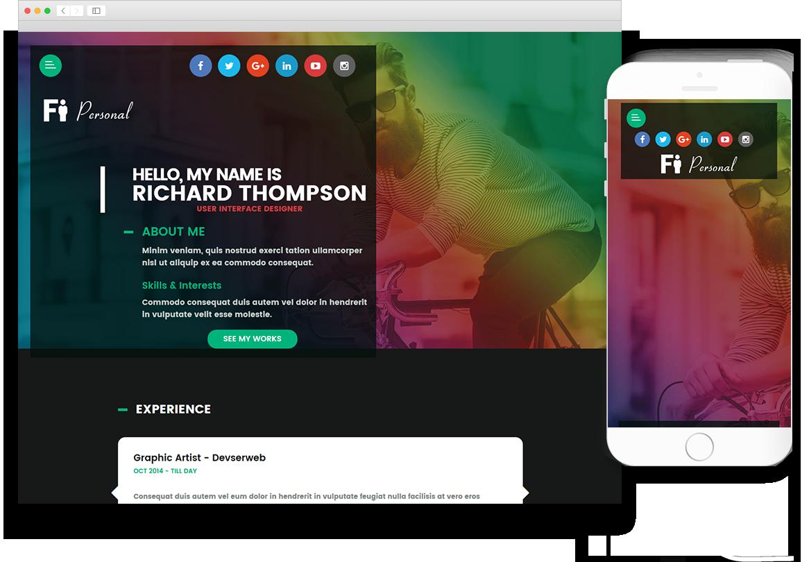 Optuno Personal Web Design