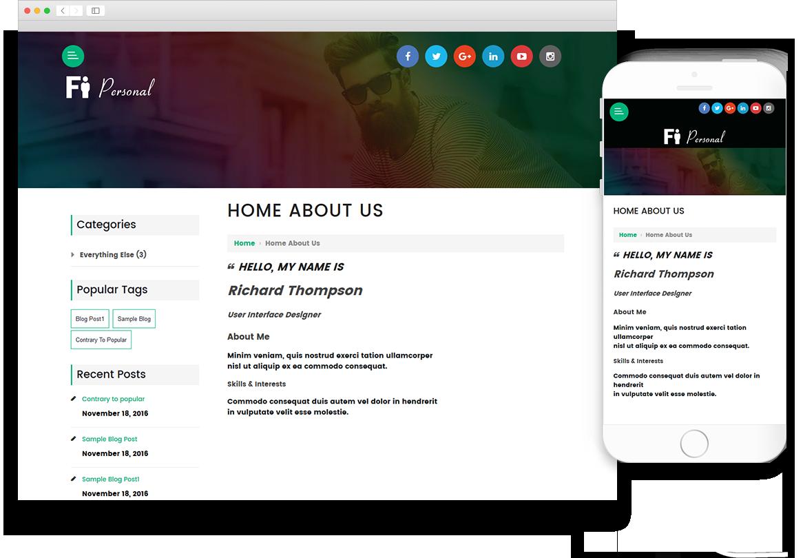 Optuno Personal Website Design