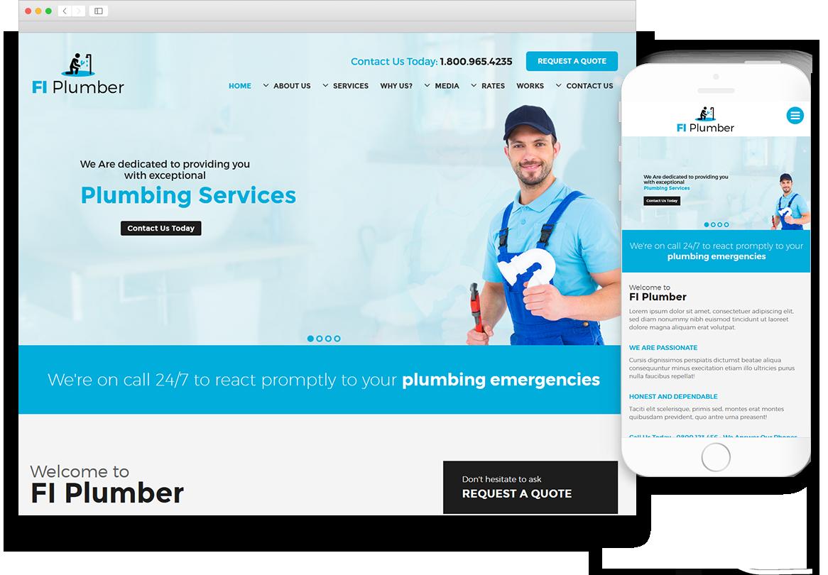 Optuno Plumber Web Design