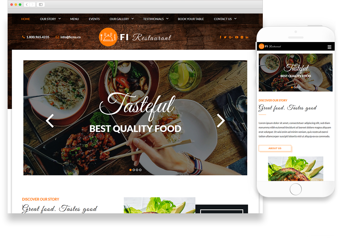Optuno Restaurant Web Design