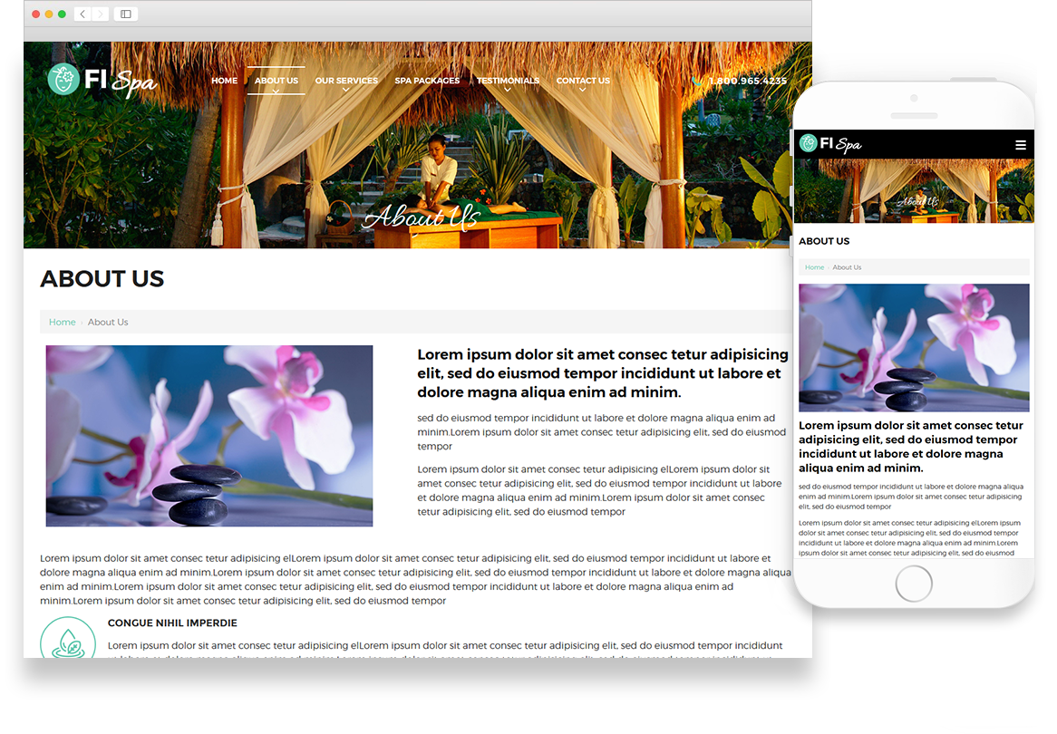 Optuno Spa Website Design